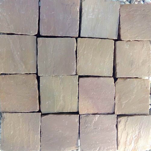 Autumn Brown Cobbles Supplier India Rachana Stones