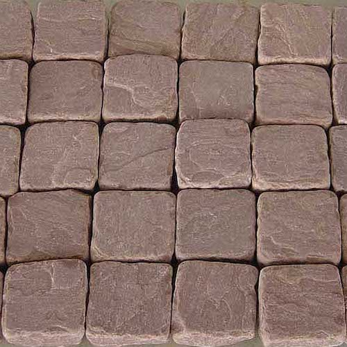 Mandana Red Cobbles Manufacturer Exporter Rachana Stones India