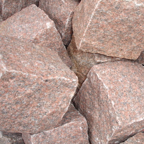 RED COBBLE MANUFACTURER EXPORTER RACHANA STONES INDIA