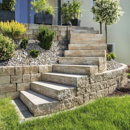 Block Steps stone manufacturer suplier exporter Rachana Stones India