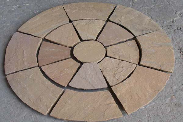 Circle PAving Autumn Brown Stone Circle Manufacturer Exporters Rachana Stones India mail:care@rachanastones.com
