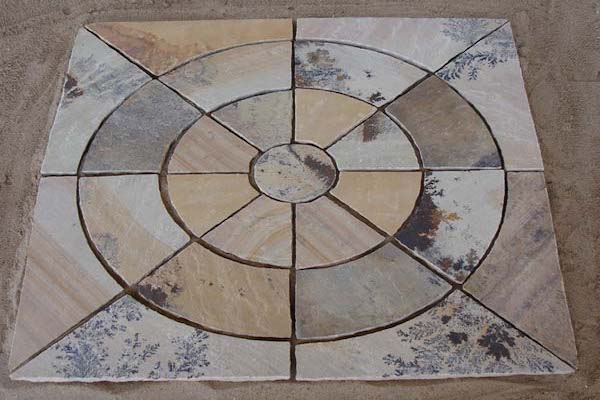 Circle PAving Mint FOssil Stone Circle Manufacturer Exporters Rachana Stones India mail:care@rachanastones.com