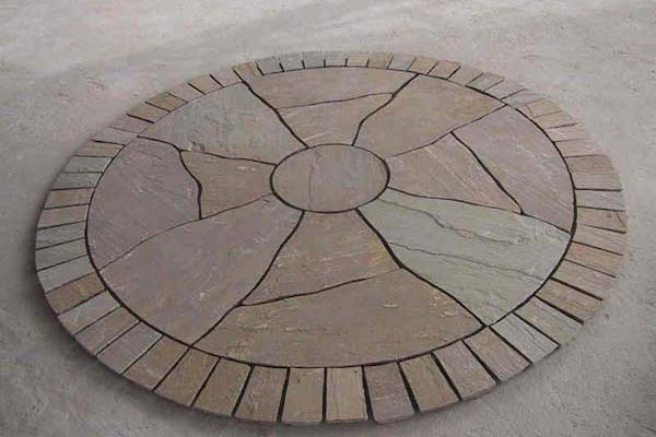 Circle PAving RAj Green Stone Circle Manufacturer Exporters Rachana Stones India mail:care@rachanastones.com