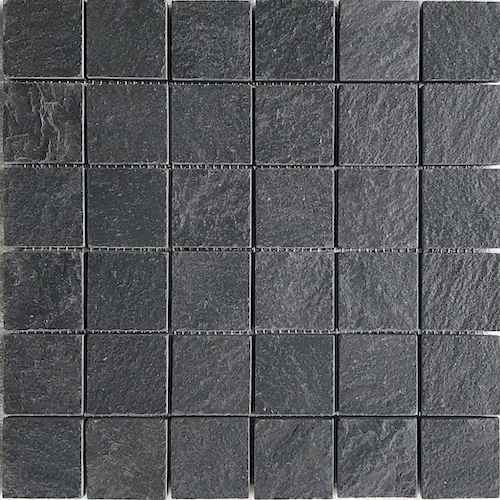 Himachal black brushed Mosaic STone supplier Rachana Stones India
