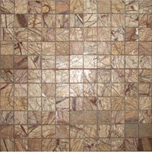 MARBLE-Rainforest-Brown-Mosaic-Antique-Polished-Mosaic Stone Supplier rachana Stones India