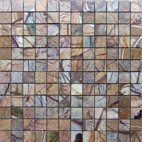 MARBLE-Rainforest-Brown-Mosaic-Polished-6x636-pcs-per-mesh-pattern-374x375