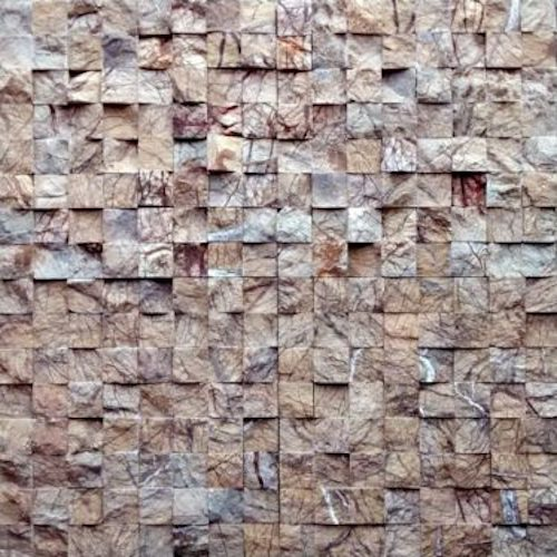 MARBLE-Rainforest-Brown-Split-Face-Rachana Stones India Mosaic Stone SUpplietr