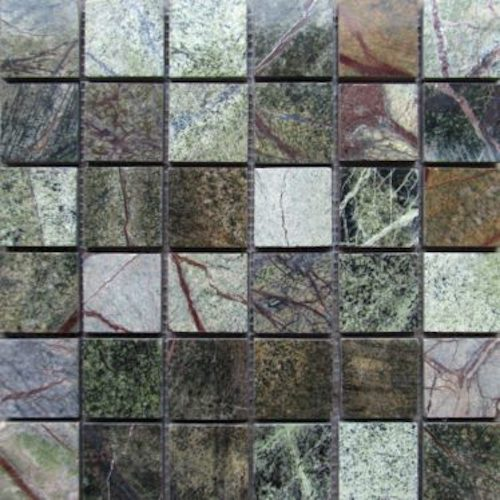 MARBLE-Rainforest-Green-Mosaic-Polished-Mosaic Stone Supplier Rachana Stones India