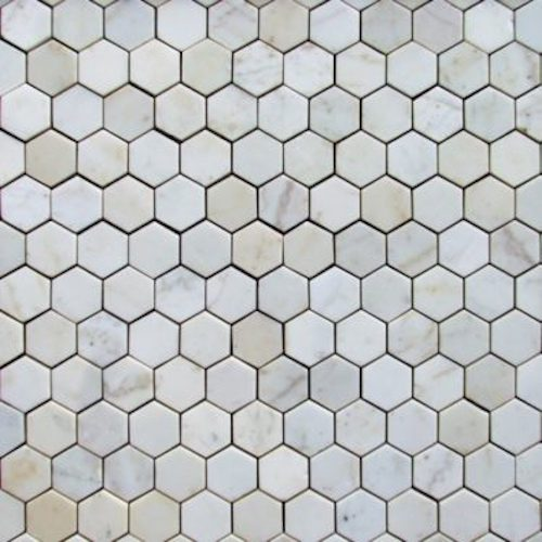MARBLE-White-Hexagon-Polished-Honeycomb-Pattern-Mosaic Supplier Rachana Stones India