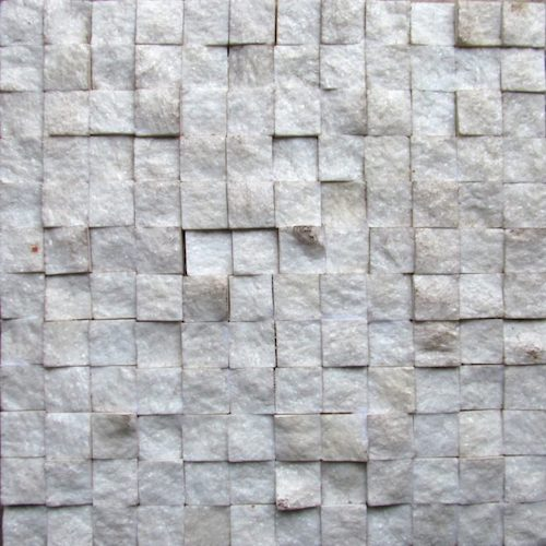 MARBLE-White-Split-Face-Mosaic Stone Supplier Rachana Stones India