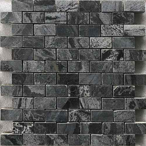 SILVER GREY TUMBLED 35X35MM MOSAIC SUPPLIER RACHANA STONES INDIA