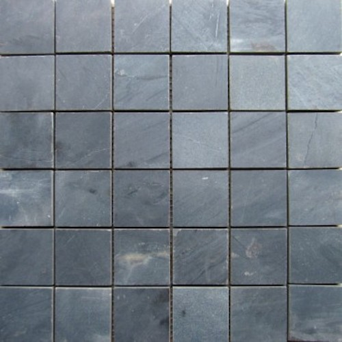 SLATE-Ocean-Black-Square-Pattern-Honed-Top-36-pcs-on-mesh-Mosaic Stone Supplier Rachana Stones india