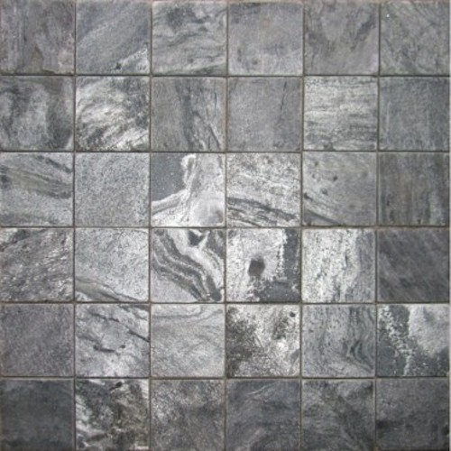 SLATE-Silver-Grey-Square-Pattern-Honed-Tumbled-36-pcs-on-mesh-Mosaic Supplier Rachana Stones India
