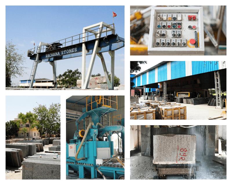 Stone Processing-Best Exporter Supplier of Sandstone Granite Marble Limestone Slate Quartzite Rachana Stones India