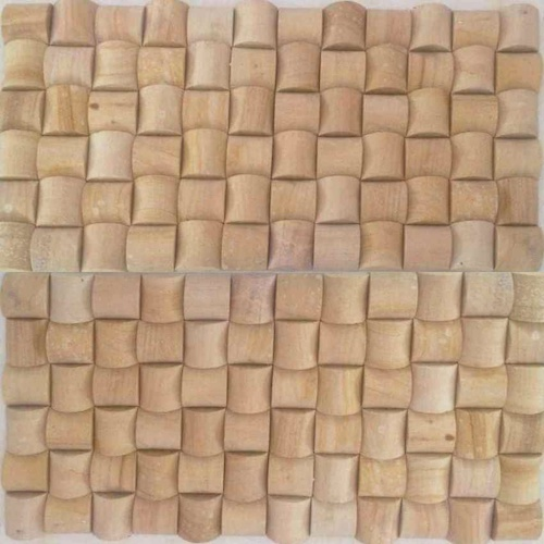 TEAK MOSAIC PATTERN TILES SUPPLIER RACHANA STONES INDIA