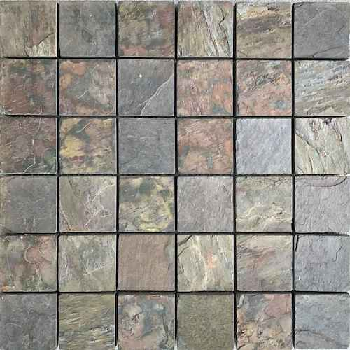 kund multi mosaic 48x48mm Mosaic Stone Supplier Rachana Stones india