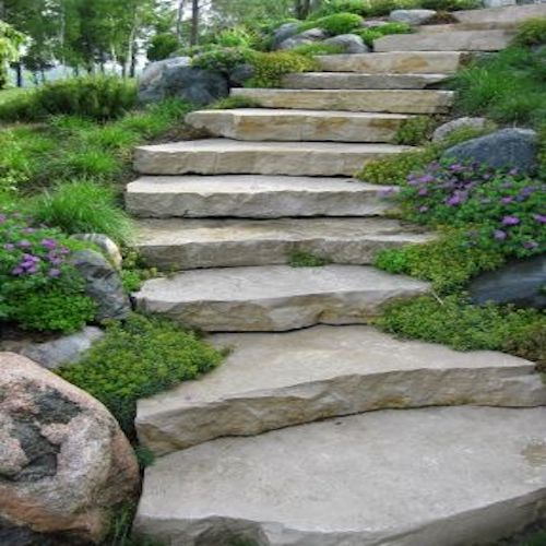 Mint Block Steps Kerb Paving stone Manufacturer Exporter Rachana Stones mail care@rachanastones.com